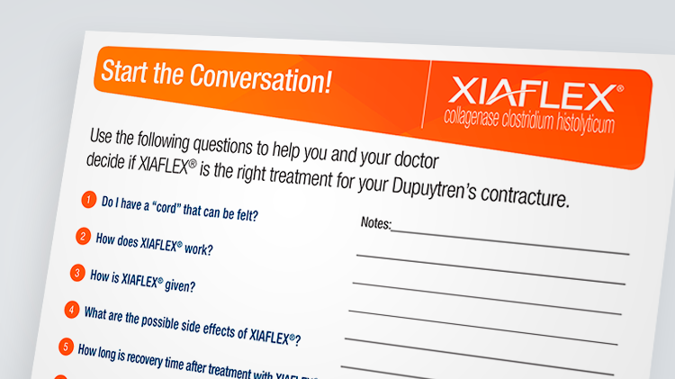 Discussion guide for XIAFLEX®