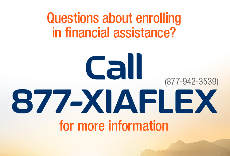 Questions about enrolling in financial assistance? Call 877-942-3539 for more information